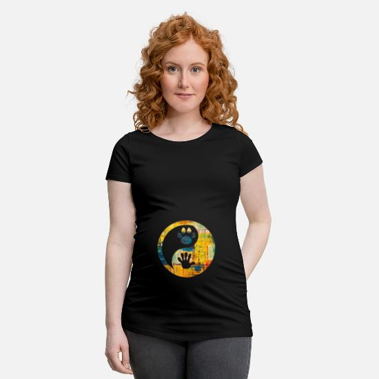 Pet T-Shirts - animal welfare - Maternity T-Shirt black