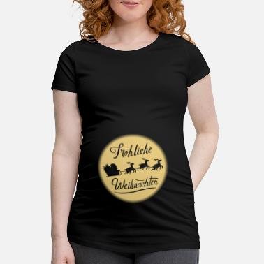 Pregnant Pregnancy Pregnant baby belly Christmas - Maternity T-Shirt