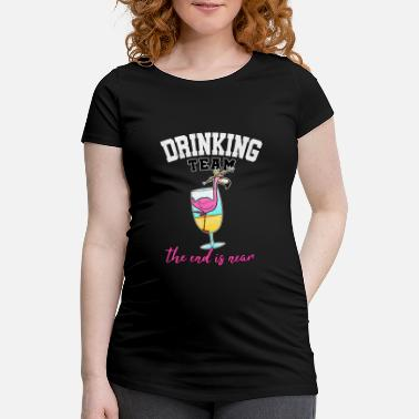 Cocktail Team Drinking Team JGA Cocktail Party Alcohol Gift - Women's Pregnancy T-Shirt