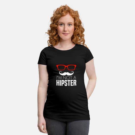 Stylish T-Shirts - hipster - Maternity T-Shirt black