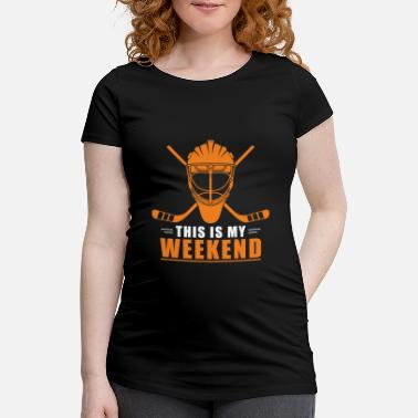 Lustige Ice Hockey This is my Weekend Hockey Player Winter - Schwangerschafts-T-Shirt