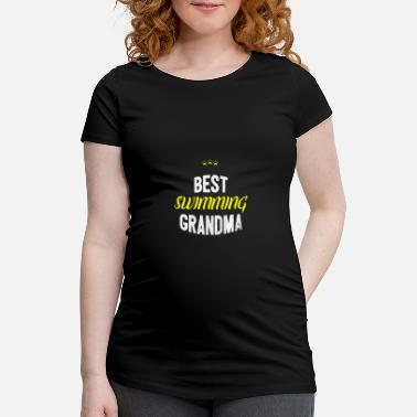 Idea Distressed - BEST SWIMMING GRANDMA - Maternity T-Shirt