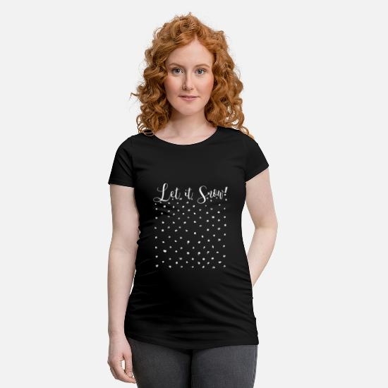 Winter T-Shirts - Let it snow! - Maternity T-Shirt black