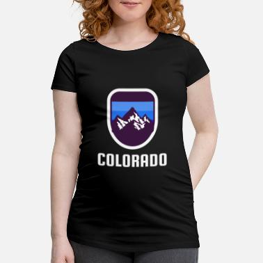 Rockies Colorado Rockies Retro-Stil - Schwangerschafts-T-Shirt