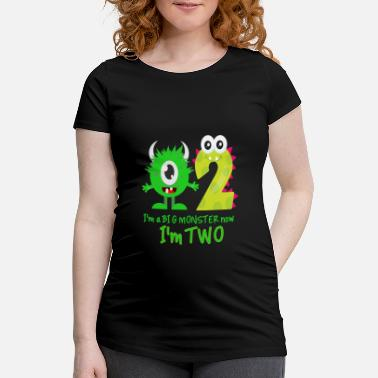 Birthday Funny FUNNY 2ND BIRTHDAY MONSTER DESIGN - Maternity T-Shirt