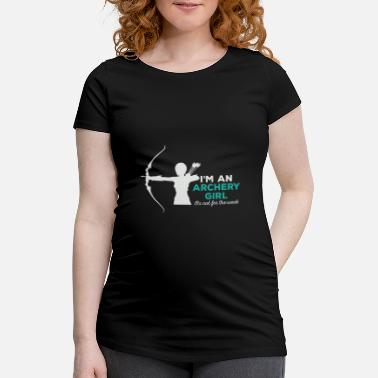 Recurve Recurve bow girl - Maternity T-Shirt
