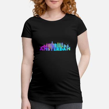 Holland Amsterdam Holland capital travel drug gift - Maternity T-Shirt