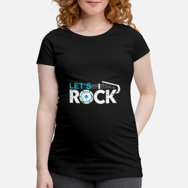 Fan Let's Rock Musician Music Fan Gift - Zwangerschaps T-shirt