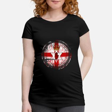 Northern Ireland Symbols Northern Ireland emblem country gift - Maternity T-Shirt
