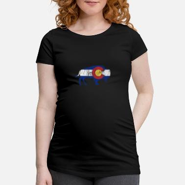 Bout De Rochers Native Colorado Gifts CO Drapeau d'état Colorado - T-shirt de grossesse Femme