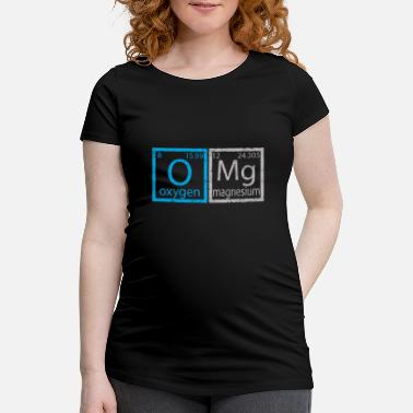Periodic Table OMG Periodic Table Shirt for Science Dorks - Maternity T-Shirt
