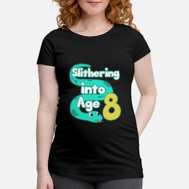 Saying Snake 8th Birthday Party Eighth Boa Gift - Maternity T-Shirt