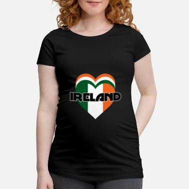 Ireland Ireland love heart - Maternity T-Shirt