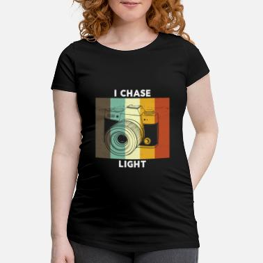 Obturateur Caméra Vintage I Chase Light Retro Color - T-shirt de grossesse Femme