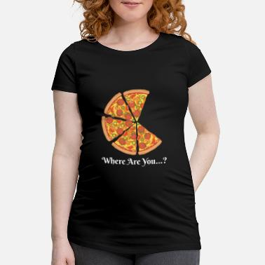 Pizza Où es-tu ...? (Couple Pizza) 1 - T-shirt de grossesse