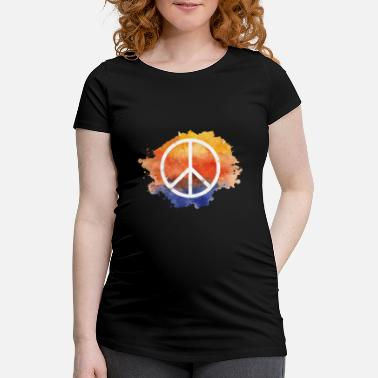Symbol Symbol peace gift world peace hippie - Maternity T-Shirt