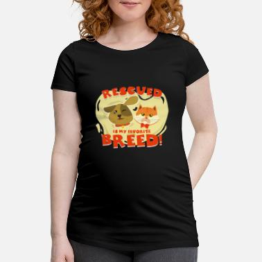 Protection Animal protection animals cat dog animal rescue gift - Maternity T-Shirt