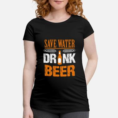 Beer Beer beer beer beer beer beer beer beer beer beer - Maternity T-Shirt