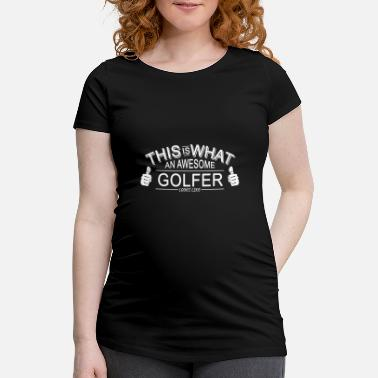 Golf Golfer Player Funny Country Club Iron Put - Maternity T-Shirt