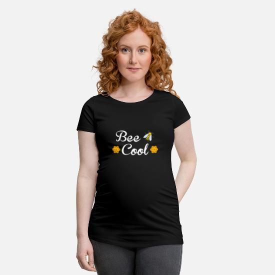 Bee T-Shirts - Bee Cool Beekeeping Queen Bee Pollinator Designs - Maternity T-Shirt black