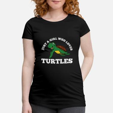 Shield Just A Girl Who Loves Turtles Funny Kids Quote Fun - Schwangerschafts-T-Shirt