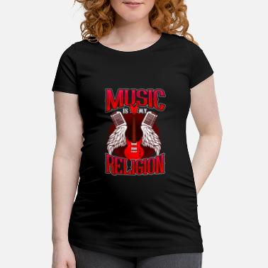 Match Music Is My Religion design Electric Guitar Mens - Maternity T-Shirt