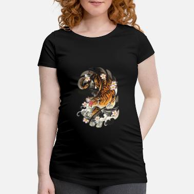 Traditional Japanese Tattoo Style Tiger Traditional - Maternity T-Shirt