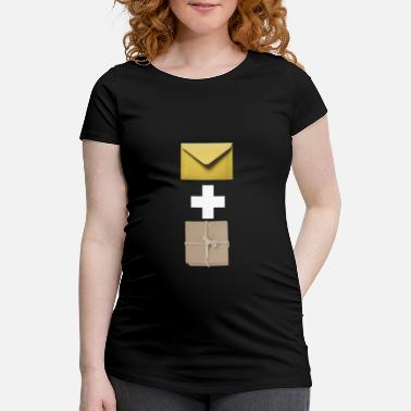 Composite Delivery Mail and parcel courier. Workshirt illustration - Maternity T-Shirt