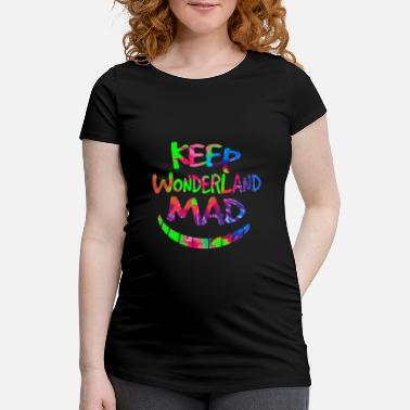 Grin Keep Wonderland Mad Hatter & Cheshire Cat Grin - Maternity T-Shirt