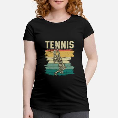 Graf TENNIS | Player vintage place sports fanatic - Gravid T-skjorte