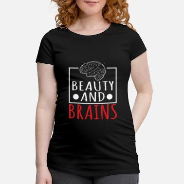 Nerd Beauty And Brains Human Anatomy Science - Maternity T-Shirt