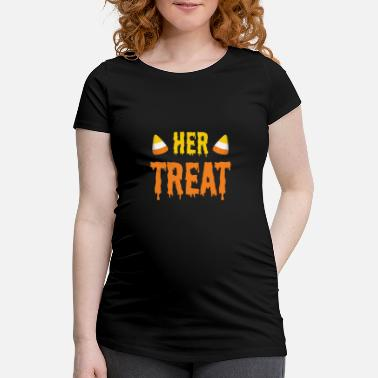Festival Halloween Her Treat Funny Matching Couple Part 2 - Maternity T-Shirt