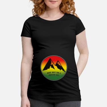 Bob make way for a positive day, marley, jamaica - Maternity T-Shirt