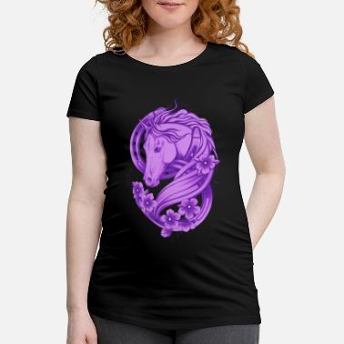 Lucky Horse Shoe and Flowers - Gravid T-shirt