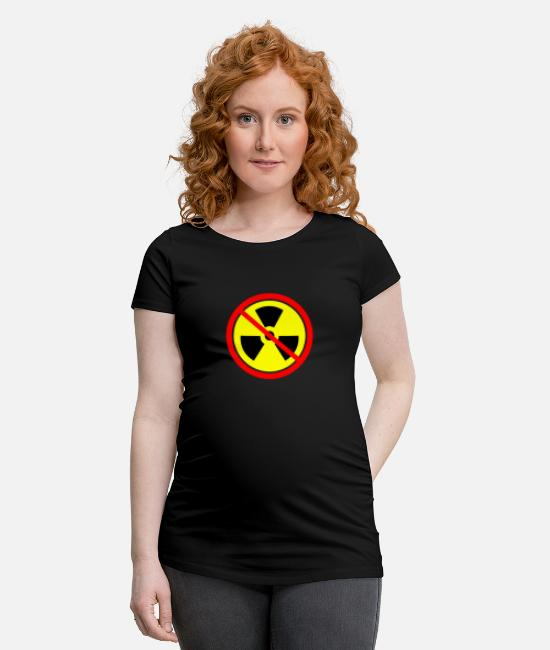 Chernobyl T-Shirts - Anti nuclear power Castor nuclear power plants Gorleben demo - Maternity T-Shirt black