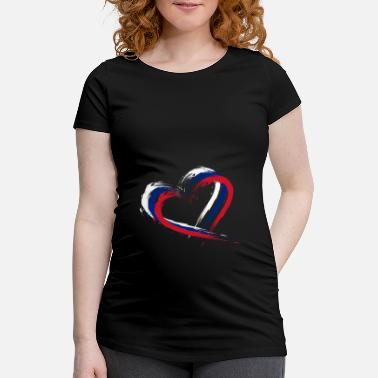 Hair Brush Heart brush flag of New Zealand flag - Maternity T-Shirt
