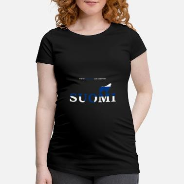 Wikstroem Finland wolf howling Suomi national colors - Maternity T-Shirt