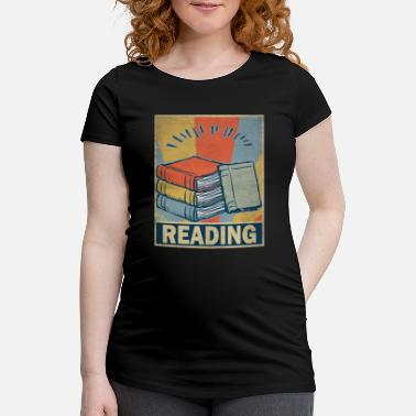Retro Vintage Reading Book Old School Gift Hobbies - Gravid-T-shirt dam