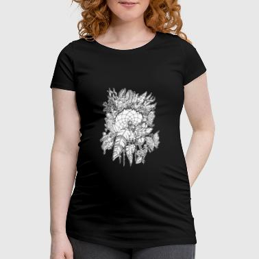 Butterfly Fish Dreamcatcher black n white - Women's Pregnancy T-Shirt