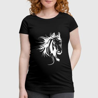 Horse Lover Horse Head Horses - Women's Pregnancy T-Shirt
