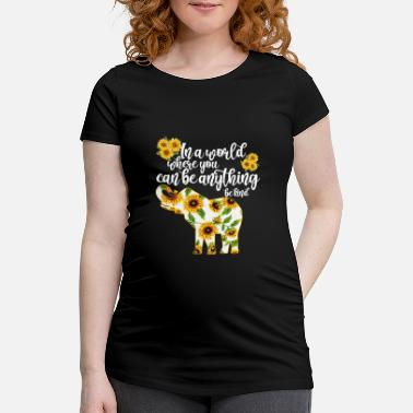 World In a World Where You Can Be Anything Be Kind - Maternity T-Shirt