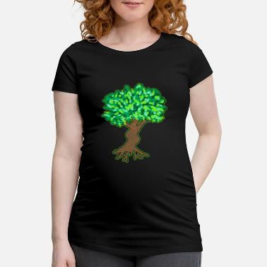 Tree Tree Plant Wood Bush Vegetation Love Gift - Maternity T-Shirt