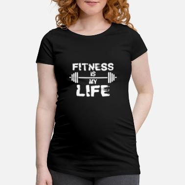 Fitnessstudio Fitness Workout Gym Training Motivation Geschenk - Schwangerschafts-T-Shirt