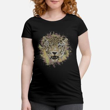 Safari Jaguar Safari Cat Leopard Animal Panther Gift - Vrouwen zwangerschap-T-shirt