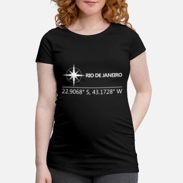 Geographic Rio De Janeiro Brazil Geographical coordinates - Maternity T-Shirt