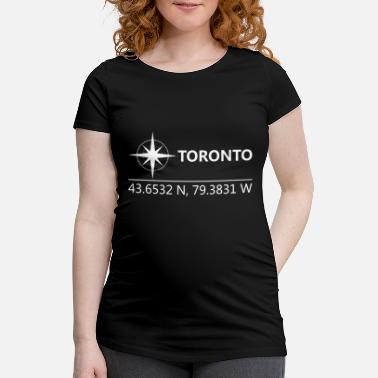 Geographic Toronto Canada Geographic coordinates - Maternity T-Shirt