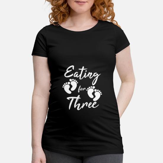 Tweeling Zwangere Moeder Voederen Baby Cadeau Vrouwen Zwangerschap T Shirt Zwart