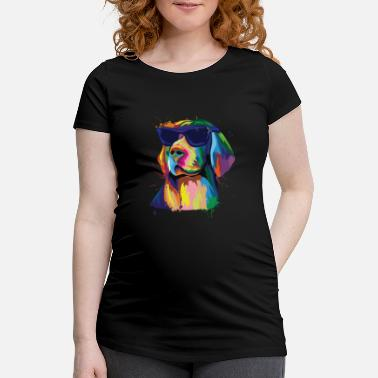 Sunglasses Labrador in bright colors with sunglasses dog - Maternity T-Shirt