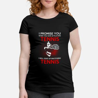 I Love Tennis tennis lover - Gravid-T-shirt dam