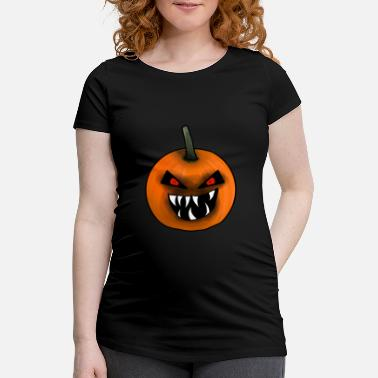 Ghost Pumpkin, Creepy, Halloween - Maternity T-Shirt